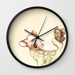 little bambi Wall Clock