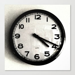 Four Nineteen Clock Canvas Print