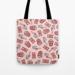 Movie Pattern in Pastel Pink Tote Bag