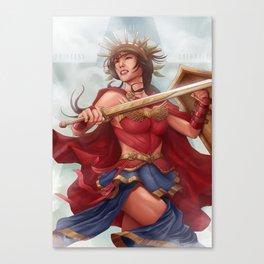 DIANA OF COLUMBIA Canvas Print