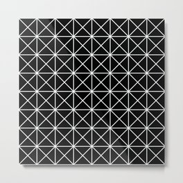 Geometric Pattern 155 (triangle grid) Metal Print