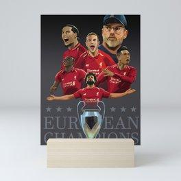 Liverpool - Football Kings of Europe Mini Art Print