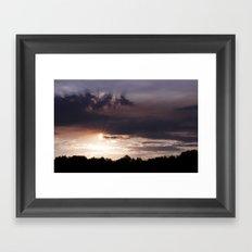 Sunset Rays Framed Art Print