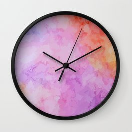 Soft Watercolor Wall Clock