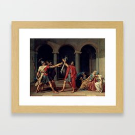The Oath of the Horatii by Jacques Louis David, 1785 Framed Art Print