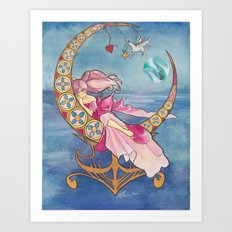 Princess Chibi Moon Art Print
