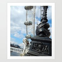 The Towering London Eye Art Print