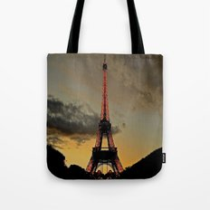 Tower Sunset Tote Bag