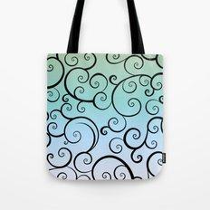 Swirling Blue Tote Bag