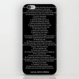 Gibbs' Rules iPhone Skin