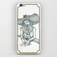 poker iPhone & iPod Skins featuring Poker face by Ruth Porter Illustration