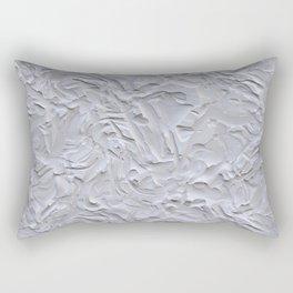 White Rough Plastering Texture Rectangular Pillow