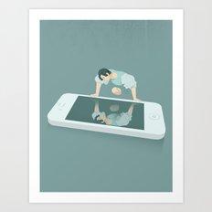 Social Media Narcissism Art Print