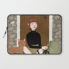 cats & coffee Laptop Sleeve