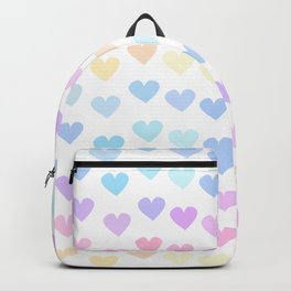 cute colorful hand drawn hearts pattern Backpack