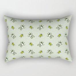 Hand drawn giant fruit green and white bug realistic cartoon. Rectangular Pillow