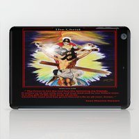christ iPad Cases featuring THE CHRIST by KEVIN CURTIS BARR'S ART OF FAMOUS FACES