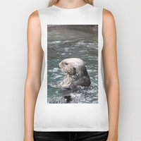 otter Biker Tanks featuring Otter by RMK Photography