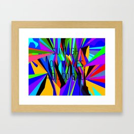 Sunlight on waves, a disco ball. Framed Art Print