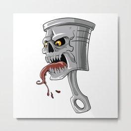 Thirsty Car Cylinder  Metal Print