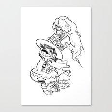 Mr.shiitake (mushroom) Canvas Print