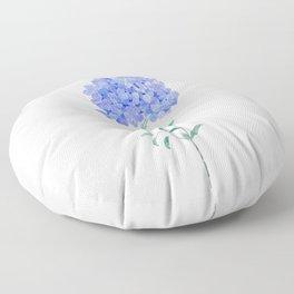 blue purple Plumbago auriculata flower Floor Pillow