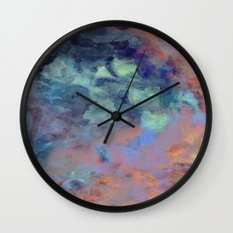 Van GoGo Blue Wall Clock