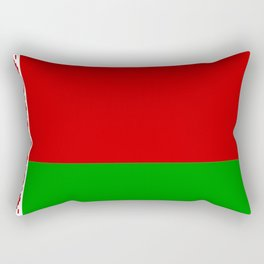 flag of belarus-belarusian,Minsk,Homyel,russia,snow,cold,chess,bear,rus,wheat,europe,easthern europe Rectangular Pillow