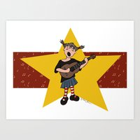 Future Rock and Roller Art Print