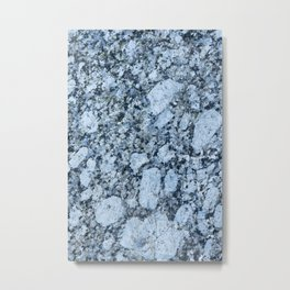Blue textured granite rock Metal Print