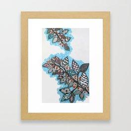 Colorful Patterned Leaves Framed Art Print