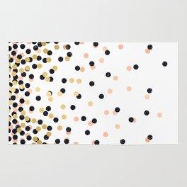 Pink & Black Polka Dots Rug