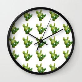 Golden Cactus i Tile Wall Clock