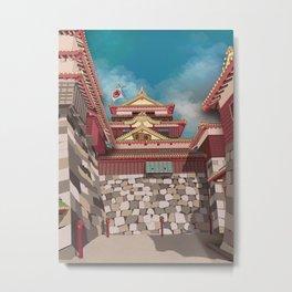 Castle Bathhouse Metal Print