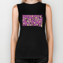 South Dakota in Flowers Biker Tank