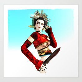 The Mad Geisha Art Print