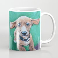 dale cooper Mugs featuring Cooper by Lindsay Larremore Craige