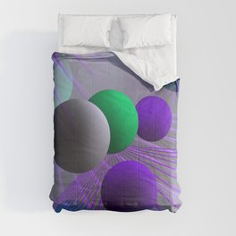 crazy lines and balls -3- Comforters