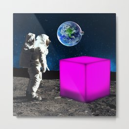 Cube from Space Metal Print