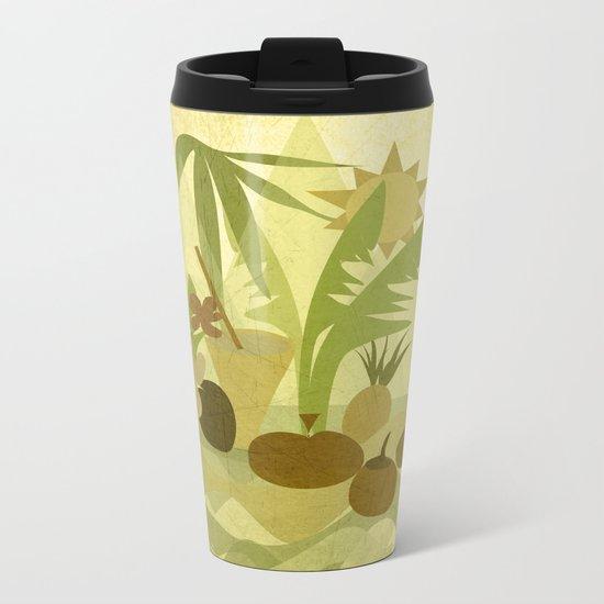 Tropical Vibes 1 Metal Travel Mug
