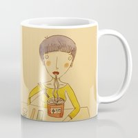 ramen Mugs featuring Ramen by Ghila Valabrega