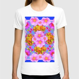 Decorative Pink & Blue Art T-shirt