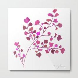 Pink Fern Metal Print