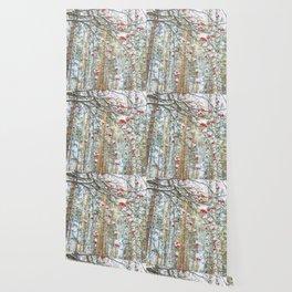 Winter Rowan and birchs Wallpaper