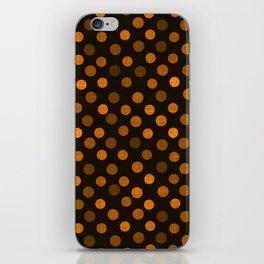 Retro Colored Dots Fabric Pumpkin Orange iPhone Skin