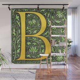 Beautiful letter 'B' vintage monogram letter Wall Mural