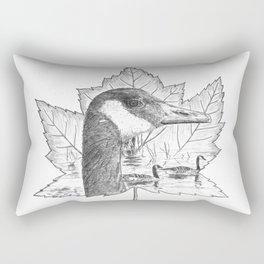 Canada Goose on Maple Leaf Rectangular Pillow