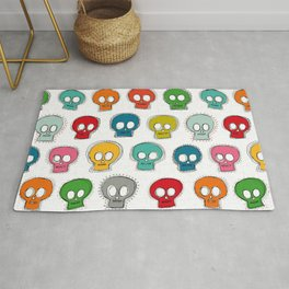 sew skully white Rug