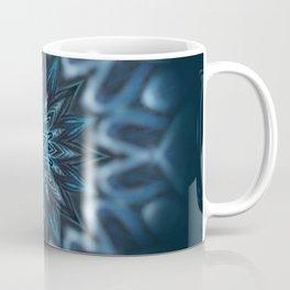 Blue Ice Swirl mandala Coffee Mug