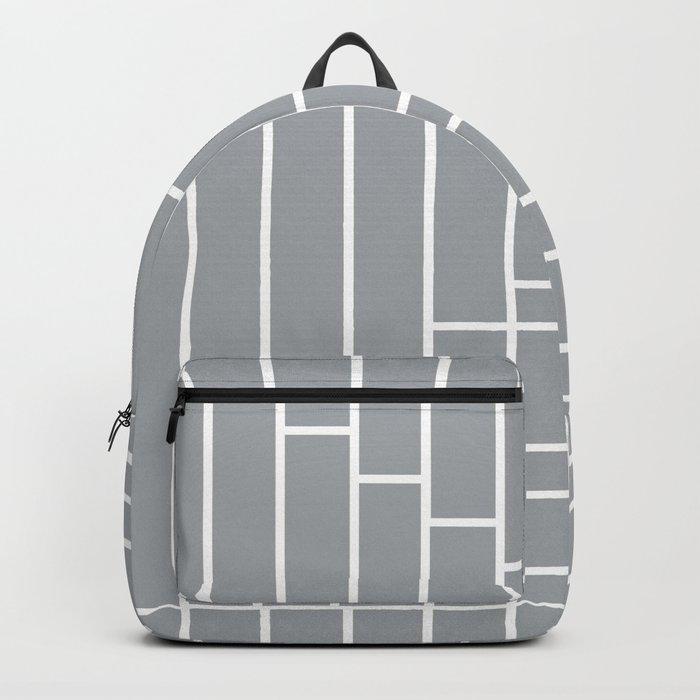 Fuzz Outline Grey Backpack